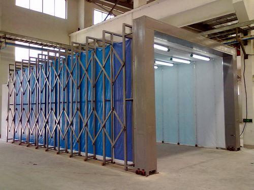 伸缩喷漆房可以节省空间
