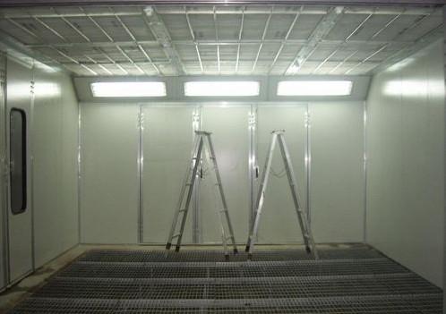 介绍油帘式喷漆室如何使用
